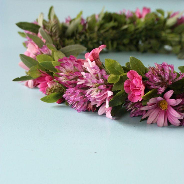 hårkrans midsommarkrans DIY tutorial flower crown flower wreath floral wedding crown