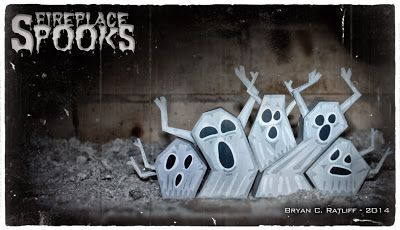 9 best Yelmos  cascos images on Pinterest   Paper crafts  Papercraft     Fireplace Spooks Paper Toys