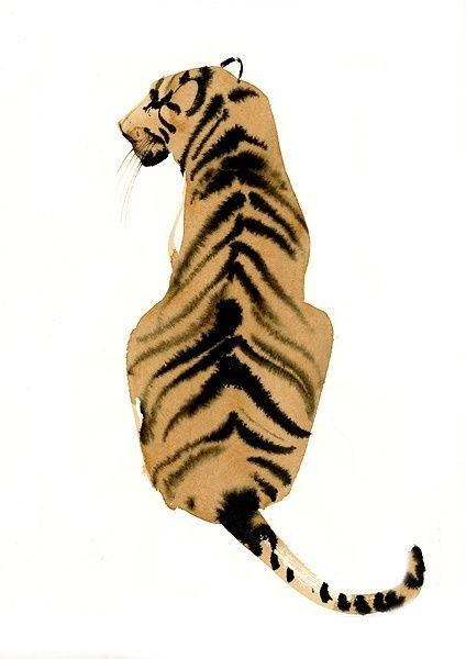 Wow. I need this print on my wall. #tiger