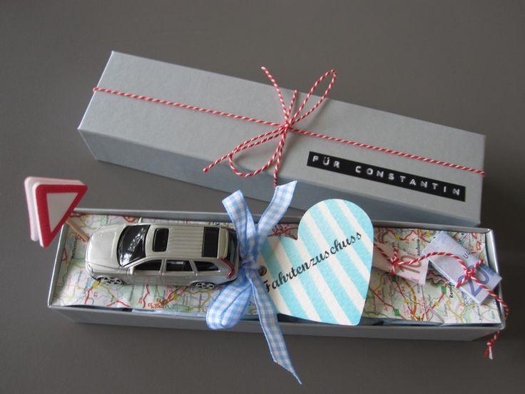 """""""Fahrtenzuschuss"""" ♥Geldgeschenk♥ money gift"""