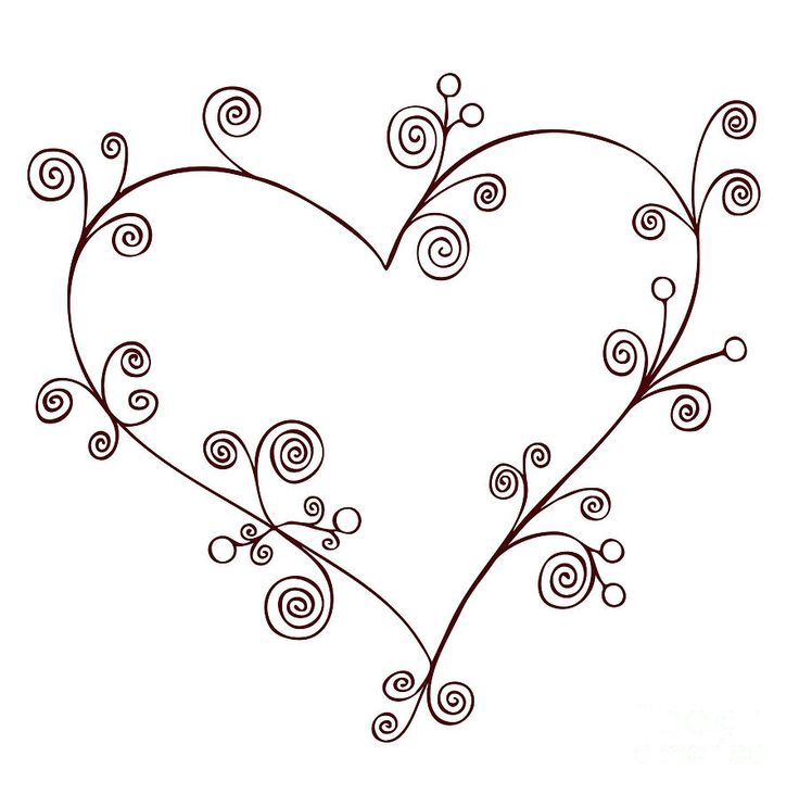 1000 Ideas About Heart Drawings On Pinterest Cool Heart