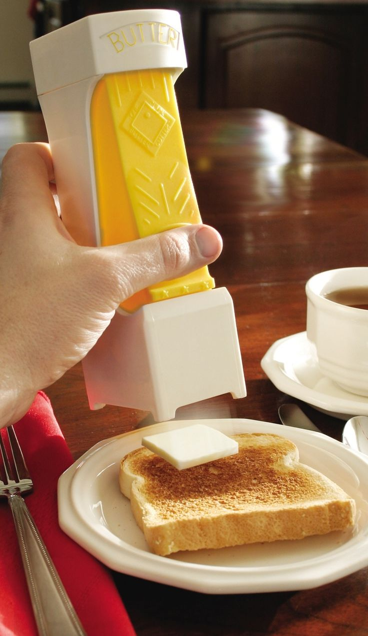 One-Click Butter Cutter - evenly cut butter on your toast, waffles and pancakes with a simple click!