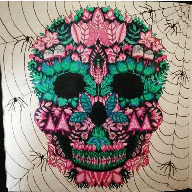 Colored Pencil Tutorial Adult Coloring Books Colouring Pencils Johanna Basford Secret Gardens Diy Art Skulls From Instagram