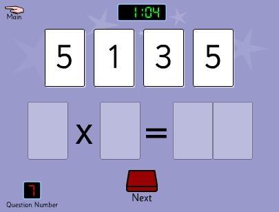 Maak met de cijfers een goede keersom. Geschikt vanaf groep 4/5