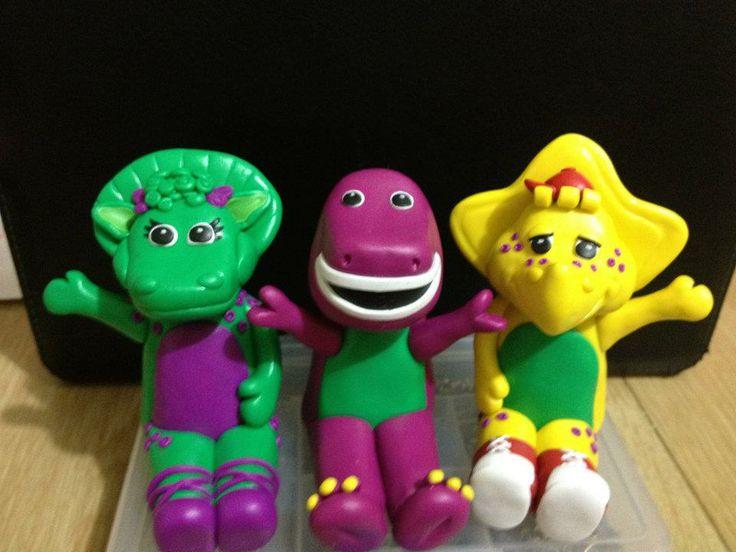 Barney Figurines Cake Topper