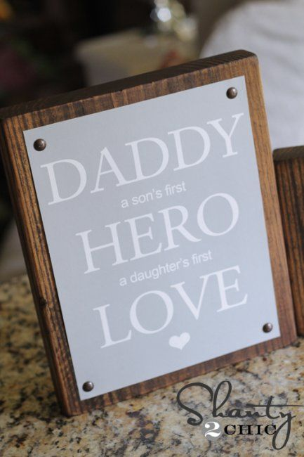 Free Father's Day printables and 5 great gifts for dad! Love this art by Shanty 2 Chic