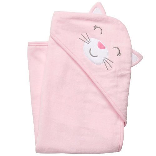 Kitty Cat Hooded Baby Towel