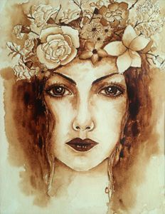 Image result for flower coffee painting
