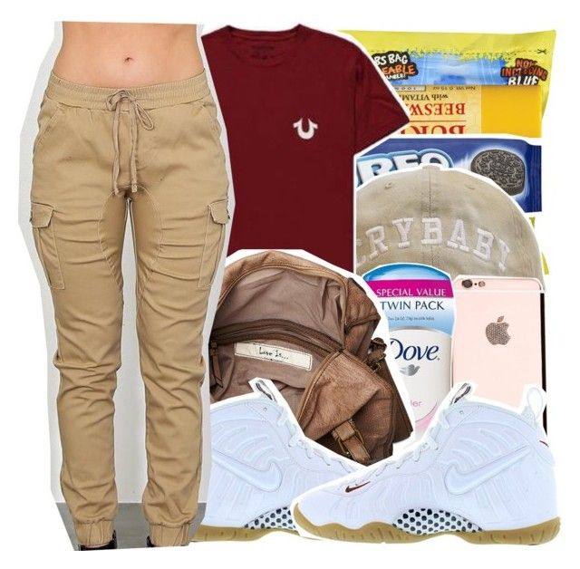 """whatever"" by haraj-uku ❤ liked on Polyvore featuring Mode, True Religion, Friis & Company und NIKE"