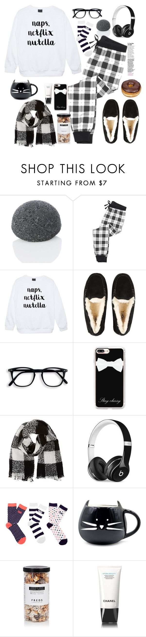 """Netflix & Chill"" by bamaannie ❤ liked on Polyvore featuring Festuvius, UGG, Casetify, Barneys New York, Beats by Dr. Dre, Superdry, FREDS at Barneys New York, cozy, netflix and cozychic"