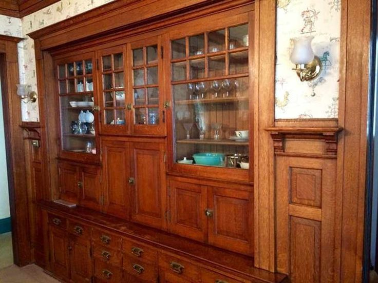1903 Built In Dining Room Cabinet