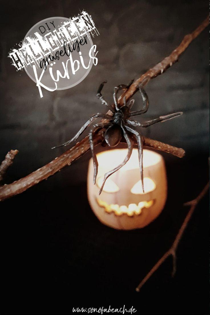 ich zeige euch in diesem DIY wie ihr einen gruseligen Kürbis aus Modelliermasse basteln Könnt. Bastelt eure perfekte und einfache Halloween Deko, einfach aber effektvoll!