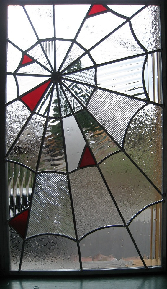 Stained Glass Spider Web - omg tell Austin to make this