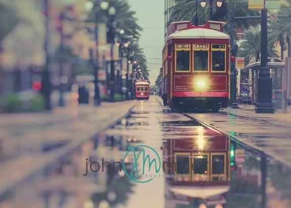 Street Car, New Orleans, New Orleans Canvas Art, New Orleans Street Art, New Orleans Art Work,  New Orleans Prints, Art, Modern Wall Art
