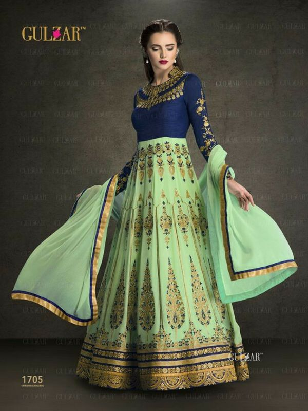 Swamp Green Partywear Anarkali Suit Online 100% Original High-Quality Fabric Product. No Replica! Shop-http://bit.ly/2eoDo89 #anarkalisuit