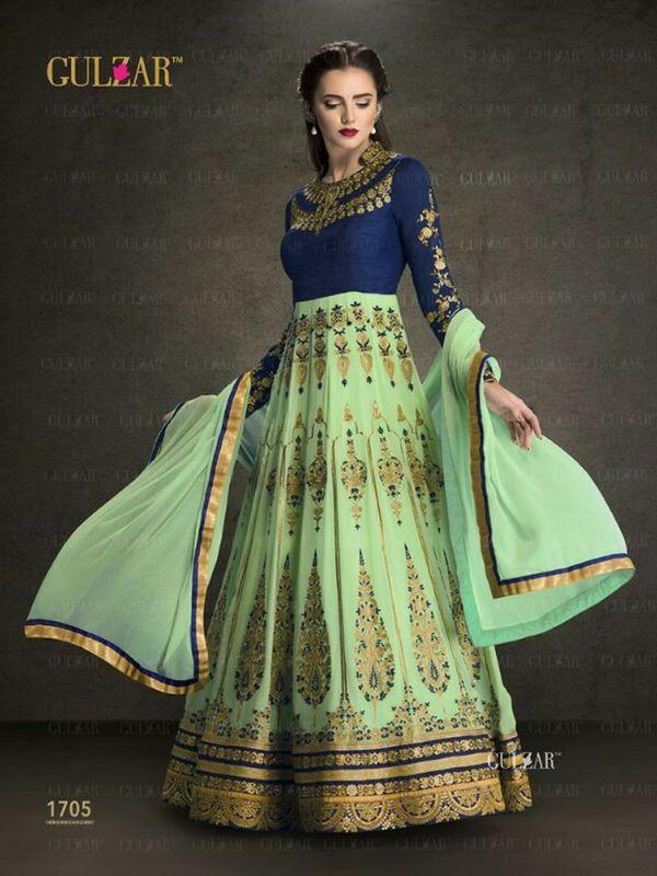 Swamp Green Partywear Anarkali Suit Online 100% Original High-Quality Fabric Product. No Replica! Shop-http://bit.ly/2eoDo89 #anarkalisuit