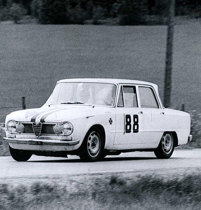Rally di Svezia 1964 Alfa Romeo Gulia TI Super Jolly Club F.Tecilla-S.Miglior