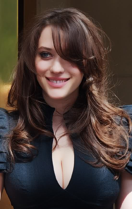 Kat Dennings looked a bit like Marion Cotillard here