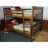 Bunk Beds - Full Over Full Size With Ladder - Superior Solid Wood Made in USA - Bunkbeds That Really Maximize... deals week