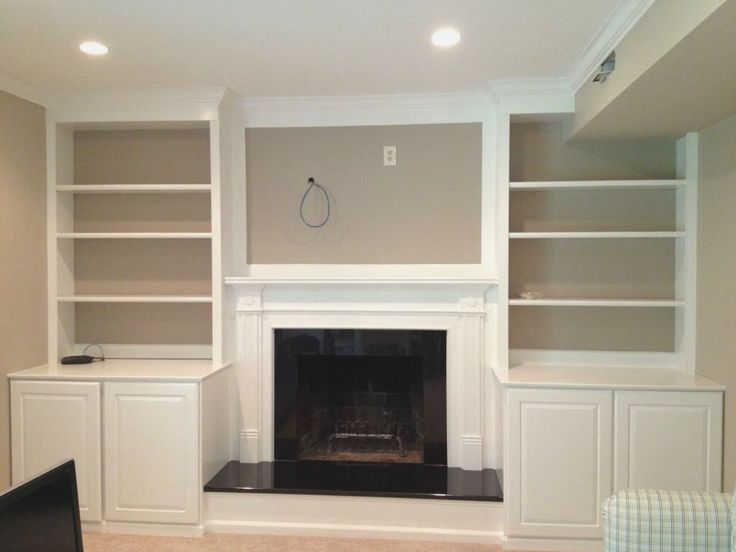 built in bookshelves around fireplace - Google Search