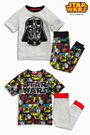 Buy Two Pack Star Wars™ All-Over-Print Pyjamas (3-12yrs) from the Next UK online shop