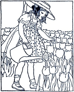 57 best free vintage embroidery patterns images on pinterest girl watering field of tulips find this pin and more on free vintage embroidery patterns dt1010fo