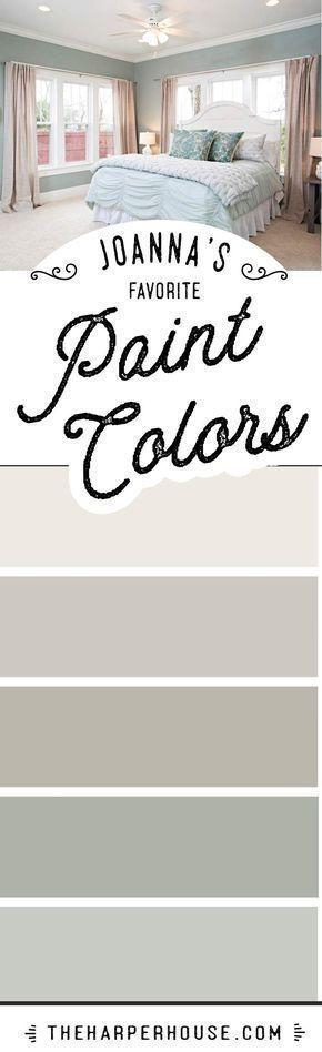 Joanna Gaines favorite paint colors | Fixer Upper paint colors | Modern Farmhouse paint colors | best neutral paint colors via @theharperhouse