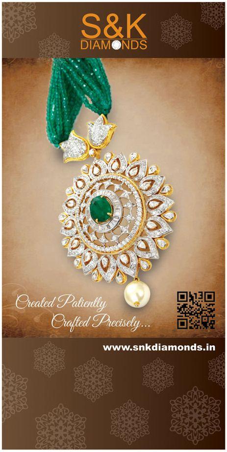 Creative Crabs - Banner design for S&K  Multi Stone and White Diamonds Pendant