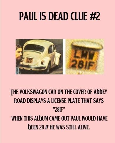Paul is dead - clue #2