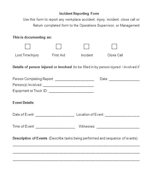 29 Hr Investigation Template In 2020 Incident Report Form
