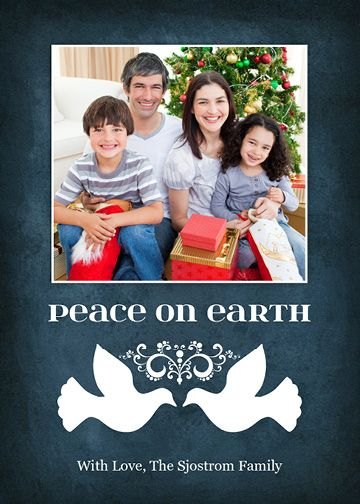 Peaceful Doves (5×7) Holiday Christmas Photo Card template from Focus in Pix.
