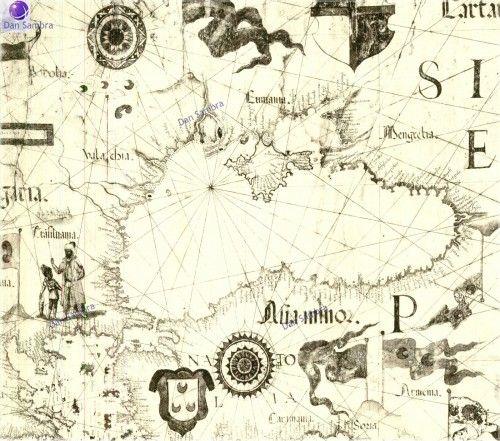 1570: Carta nautica di Diego Homem, Venezia, Europa, Vatican, Almagia, Marea Neagra, Black Sea, Dobrogea - Sec. XVI - Romania - The Community Forum (RTC)