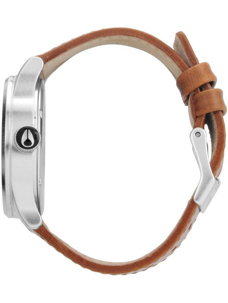 Image 1: Sort-Saddle Nixon Sentry Leather Armbåndsur