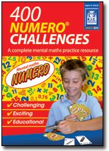 400 Numero Challenges begin with simple operations and end with complex operations, matched with problem-solving. #Mental #Maths