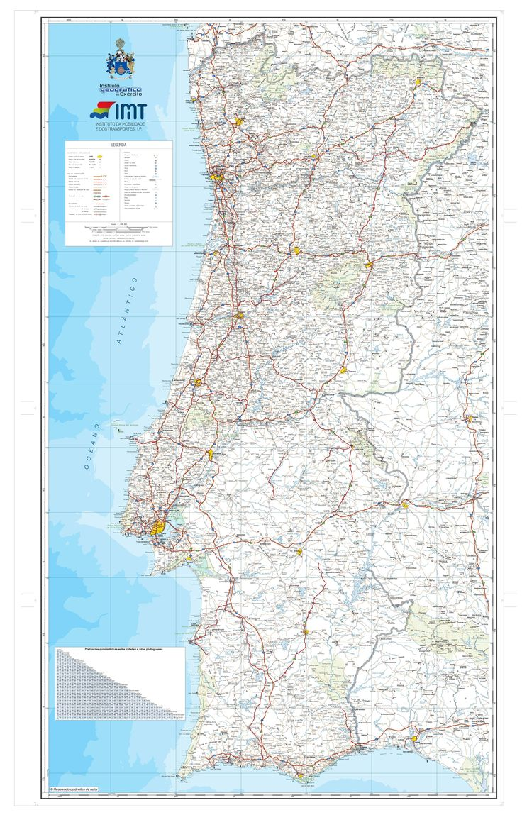Best Maps Of Portugal Images On Pinterest Portugal Maps And - Portugal road map algarve