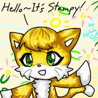 Hello this is Stampy, and welcome to another Minecraft let's play video in Stampys Lovely World. And today in this video I am of coarse going to be joined by L for Leeee! Lee do you have my breakfast? Great! Nomnomnomnom. Lol