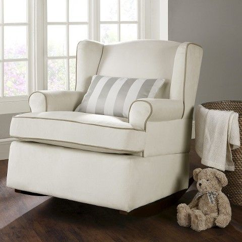 Bauer® Wingback Upholstered Rocker  Bambino Interior Inspiration ...