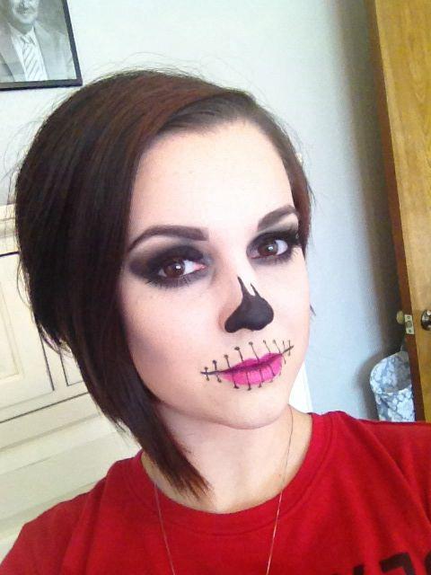Halloween makeup #halloween #makeup #skeleton