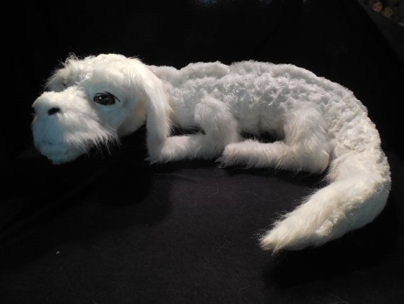 Falcor from never ending story. Toooooo cool. Etsy listing at http://www.etsy.com/listing/158897613/falkor-plush-luck-dragon-the-neverending