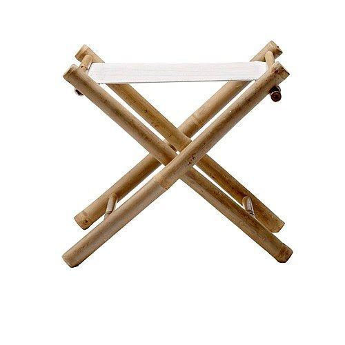 Bloomingville Kruk Inklapbaar Bamboe - Wit