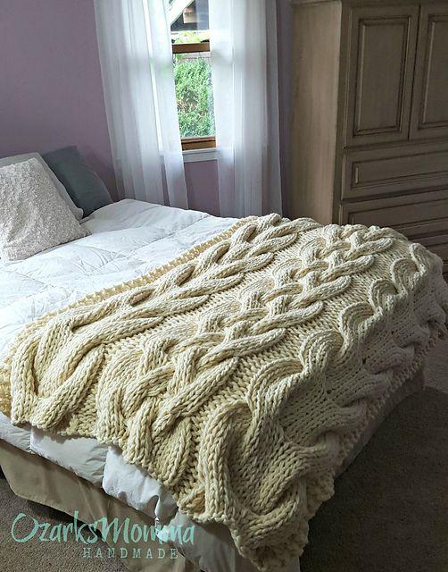 Ravelry: Chunky Cable Knit Blanket pattern by Allison Huddleston
