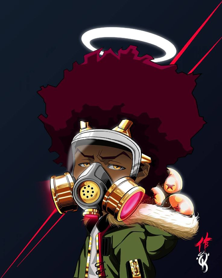 The boondocks animation that addresses social issues and - Hood cartoon wallpaper ...