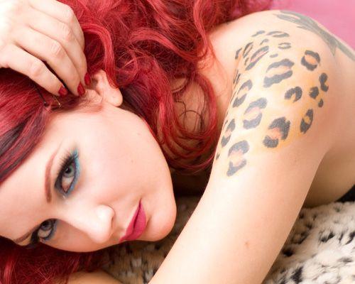 Leapord Print Women Tattoo Design Jpg