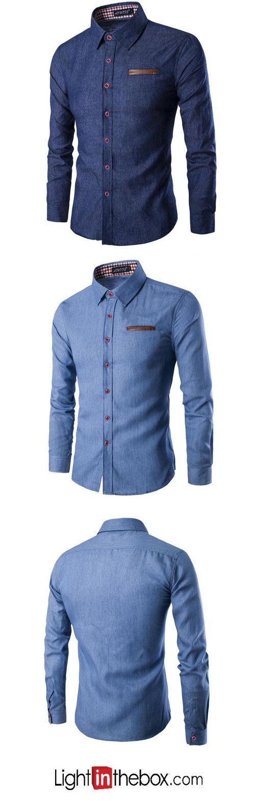 Men's Plus Size Casual/Daily Simple Spring Summer Shirt