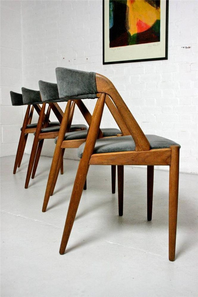 Set of 4 Classic Danish Dining Chairs by Kai Kristiansen