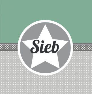 Geboortekaartje | Sieb Jongen, stoer, ruitjes, groen