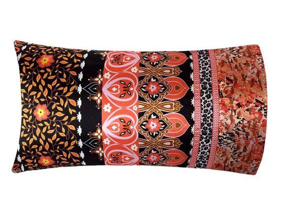 Moroccan Bedding, Boho Bedding, Bohemian Pillow Case, Satin Pillowcase, Moroccan Pillowcase, Boho Pillow Case, Moroccan Pillow, Satin Swank