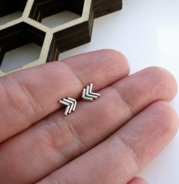 mini southwestern herringbone chevron arrows earrings