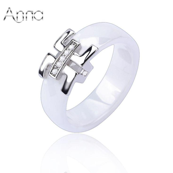 Een & N 2016 Goedkope Vrouwen Vinger Keramische Ringen Engagement Trouwringen Voor Vrouwen Zirconia Zilveren Vrouwelijke Ringen(China (Mainland))