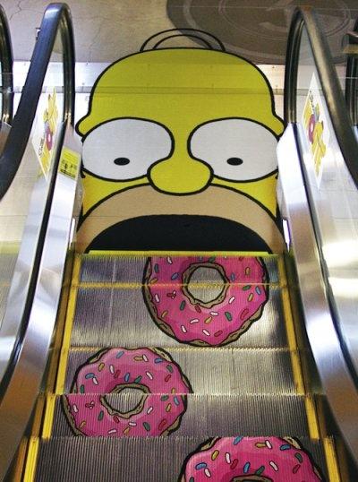 Homer Escalator! hahaha!!